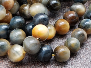 6mm or 8mm Dream Tiger Eye Polished Round Beads, 15 inch