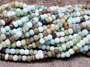 5mm to 5.5mm Natural Peruvian Opal Faceted Rondelles, 13 inch