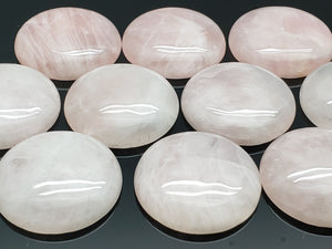 Large Rose Quartz Polished Round Cabochon