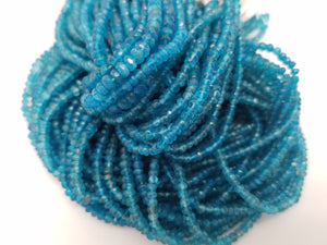 3mm Neon Apatite Faceted Rondelles, 13 inch