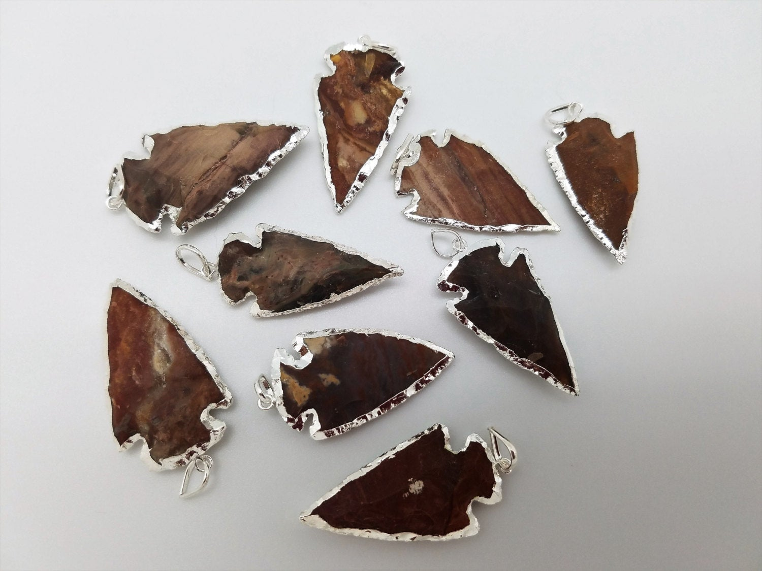 Arrowheads Pendants with Silver Plating / Designs 46 - 54