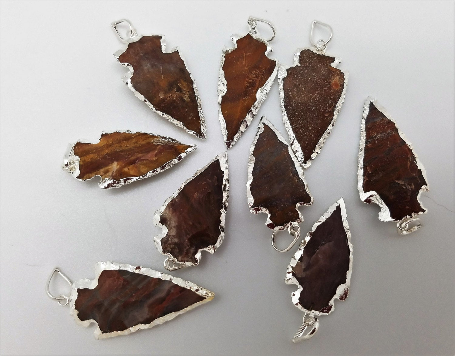 Arrowheads Pendants with Silver Plating / Designs 55 - 63