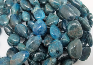 13mm to 20mm Blue Apatite Polished Nuggets, 15.5 inch