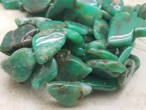 20mm Chrysoprase Polished Nuggets, 16 inch