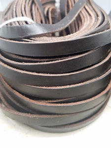 10mm BROWN or BLACK Leather Cord