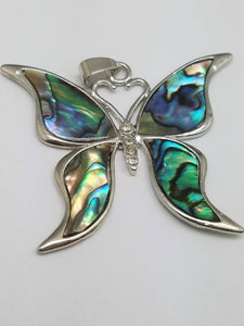 Abalone Pendants - Butterfly, Round, or Rectangle