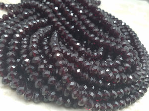 8mm Garnet Hydroquartz Faceted Rondelles, 17 inch