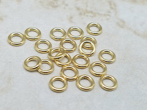 5mm .925 Sterling Silver Closed Jump Rings, with optional Gold or Black Rhodium Plating, Bag of 20