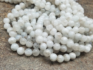 6mm or 8mm Moonstone B Grade Round Beads, 15.25 inch (Lot 2)