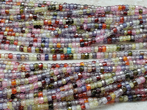 3mm Mixed Color CZ Faceted Rondelles, 13 inch