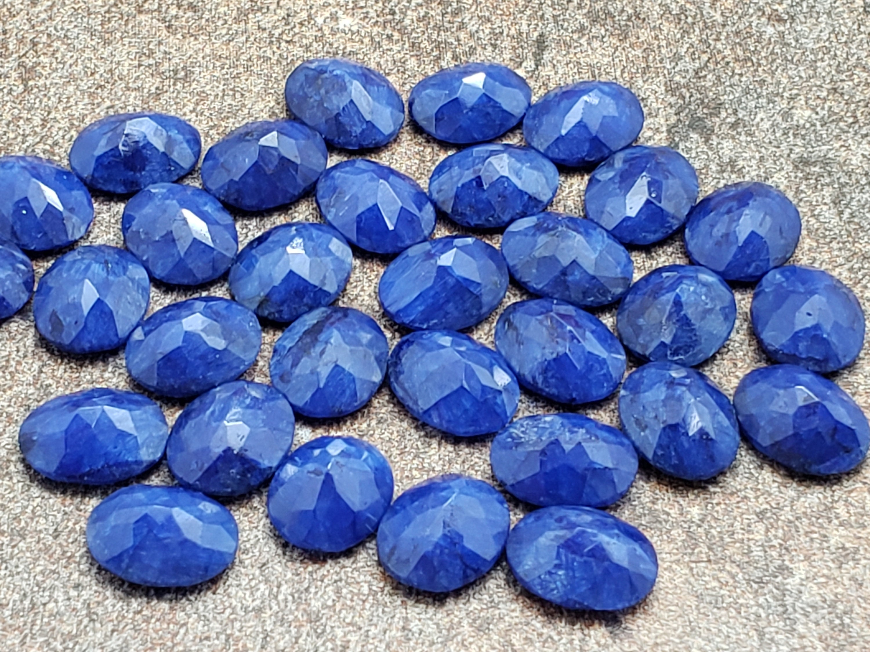 10mm by 8mm Sapphire Faceted Oval Loose Stone