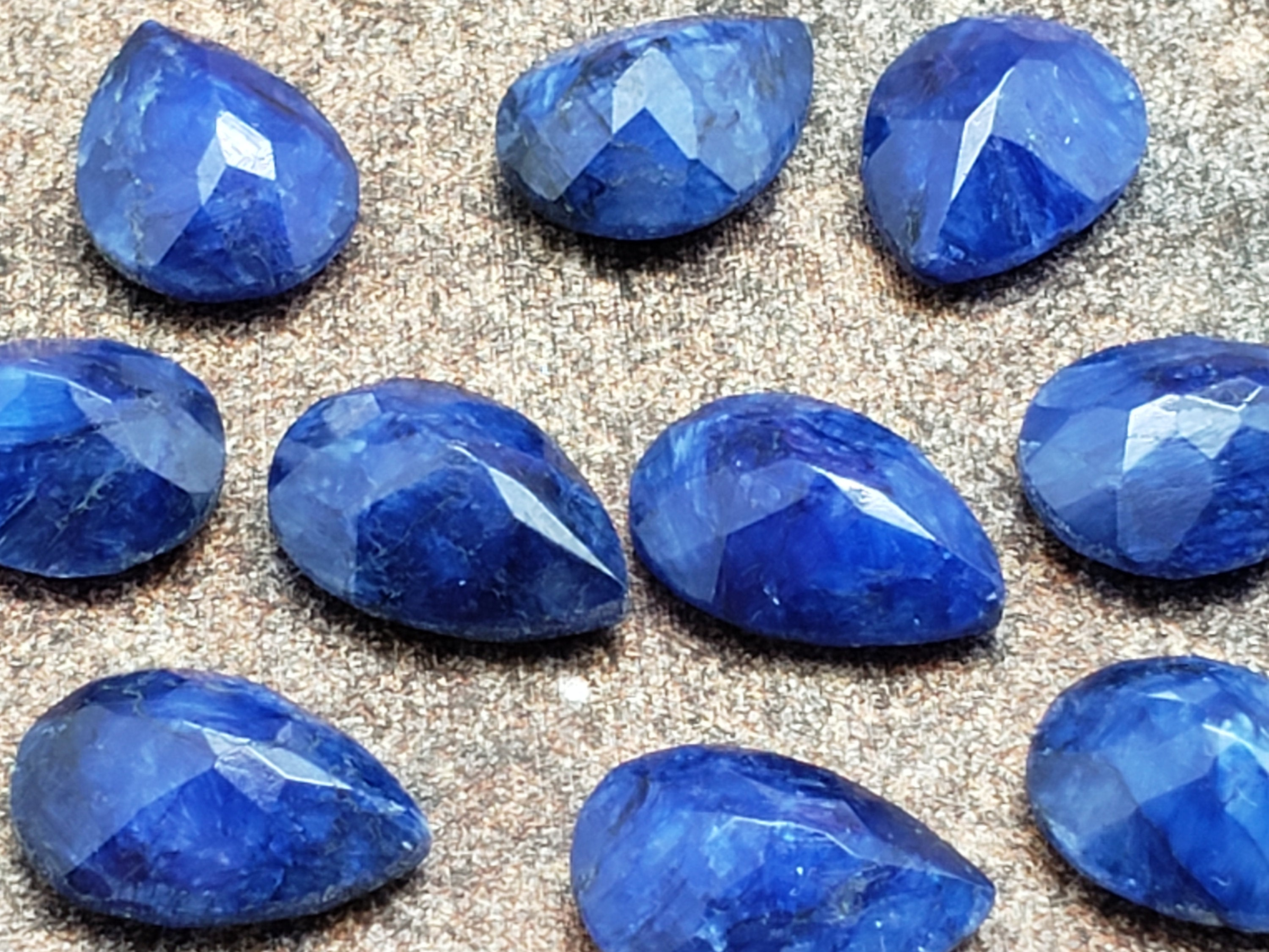 10mm by 14mm Sapphire Faceted Pear / Teardrop Loose Stone