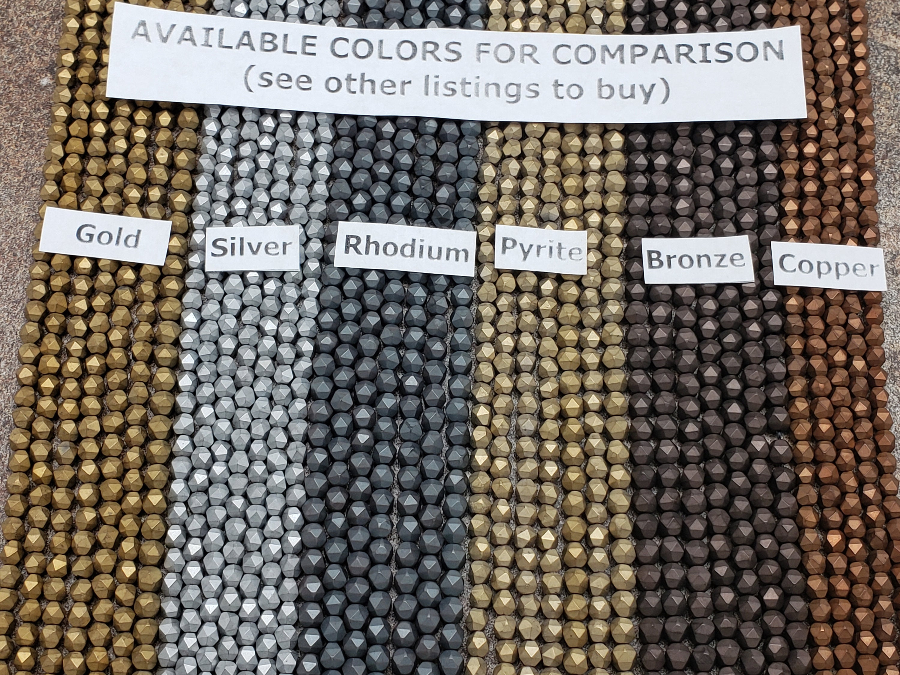 4mm by 4mm Silver Diamond Cut Faceted MATTE Beads, 15.5 inch