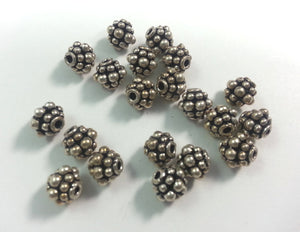 7mm Sterling Spacer Beads, Bag of 20