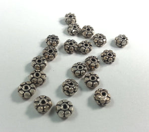 Sterling Silver Daisy Spacers 5mm