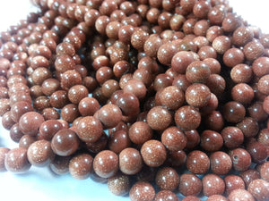 5.5mm Sandstone Polished Round Beads, 14 inch