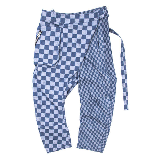 Streetstyle Wrap Pants - Contrasting Checker