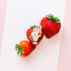 Strawberry Sunbabe Enamel Pin
