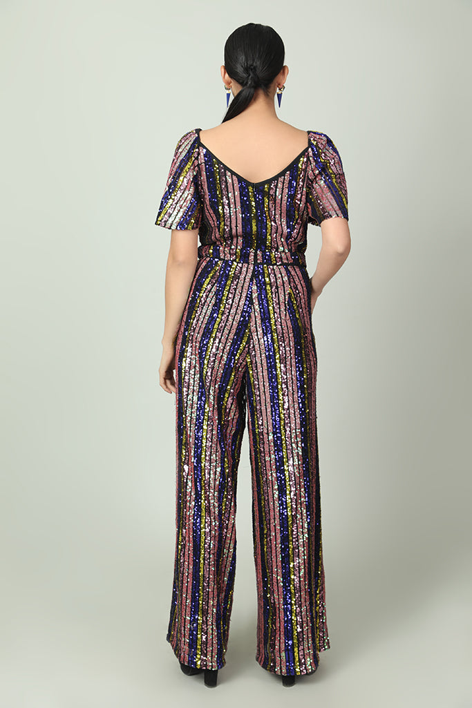 Gleamy n Vibrant Full-Sequined Jumpsuit