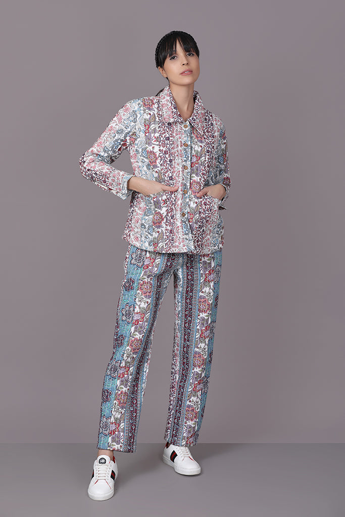 Floral Shirt, Trouser Set