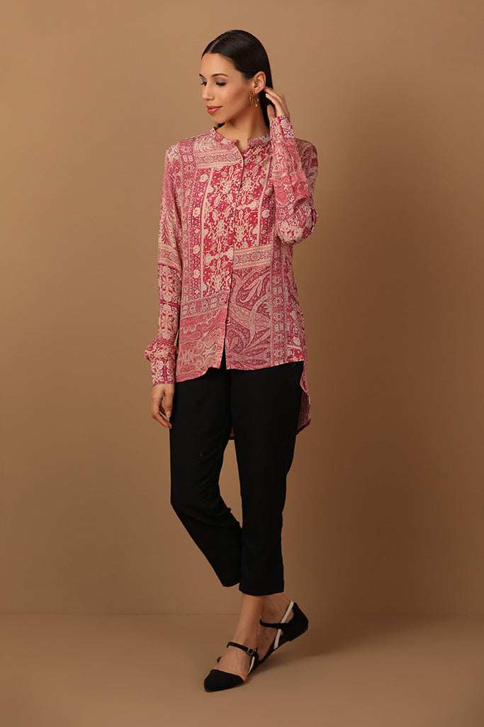 Long Shirt in Floral Print