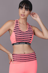 Strip Active Bra with Leggings