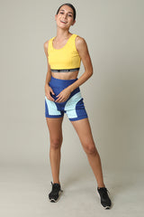 Crop Midriff and Active Wear Shorts