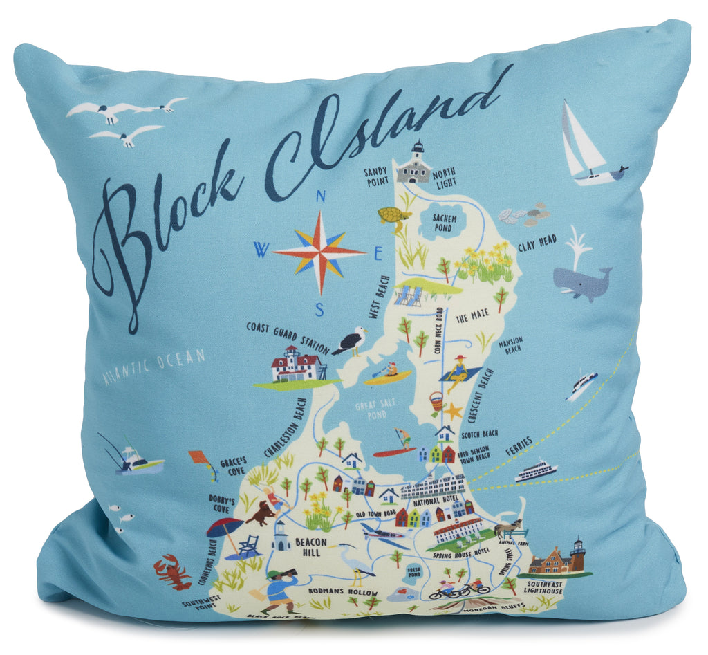 "Block Island - 18"" Square Pillow"