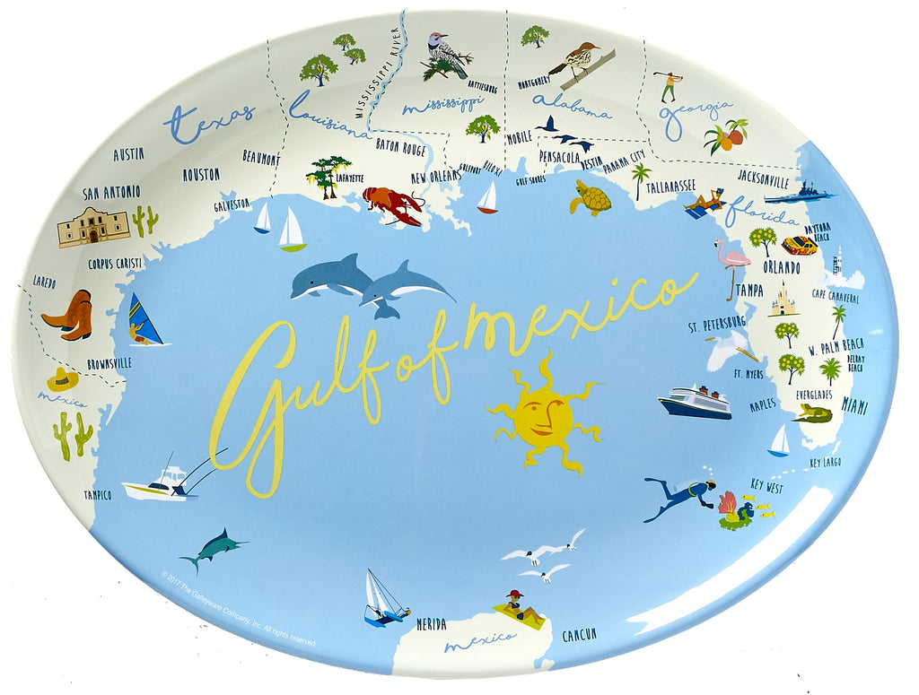"Gulf Of Mexico - 16"" Platter"