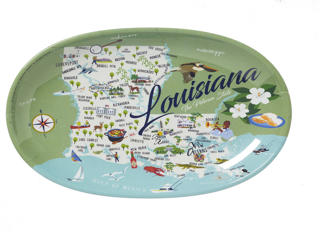 "Louisiana - 8"" Tidbit Tray / Set of 4"