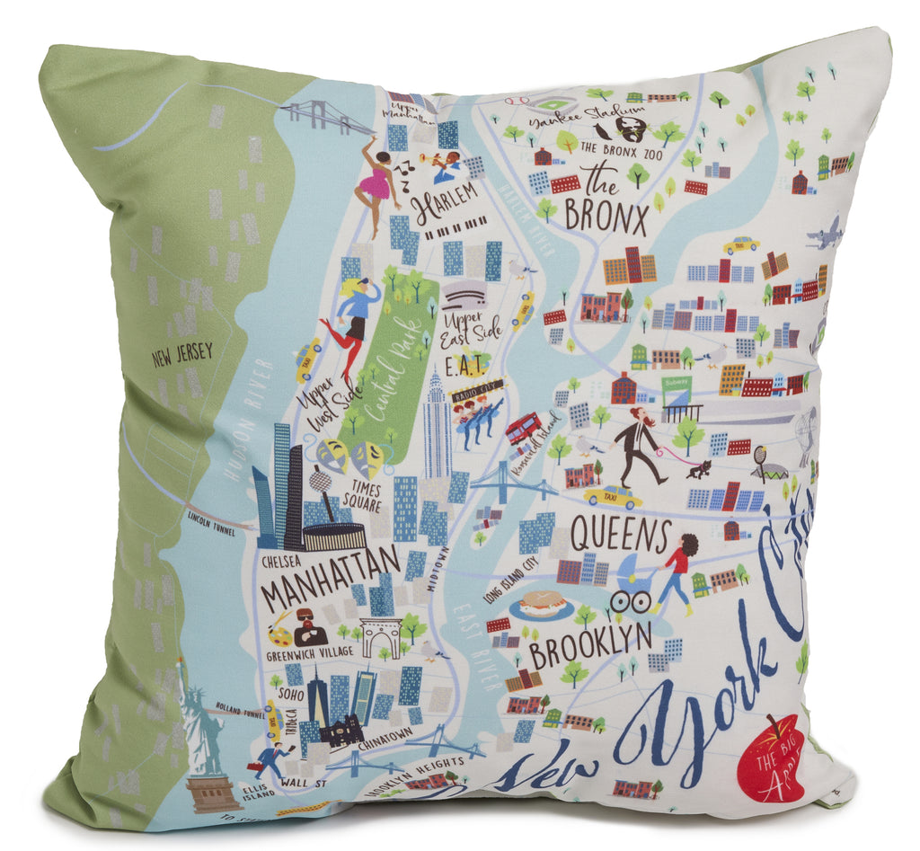 "New York City - 18"" Square Pillow"