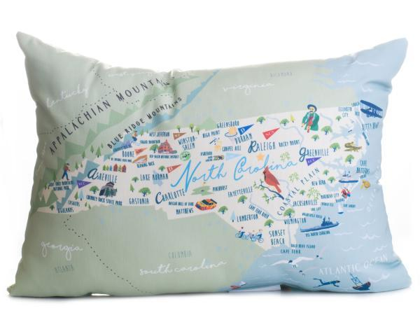 "North Carolina - 14"" Lumbar Pillow"
