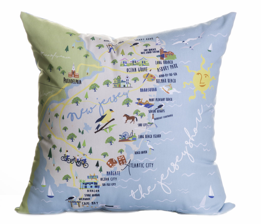 "Jersey Shore - 18"" Square Pillow"