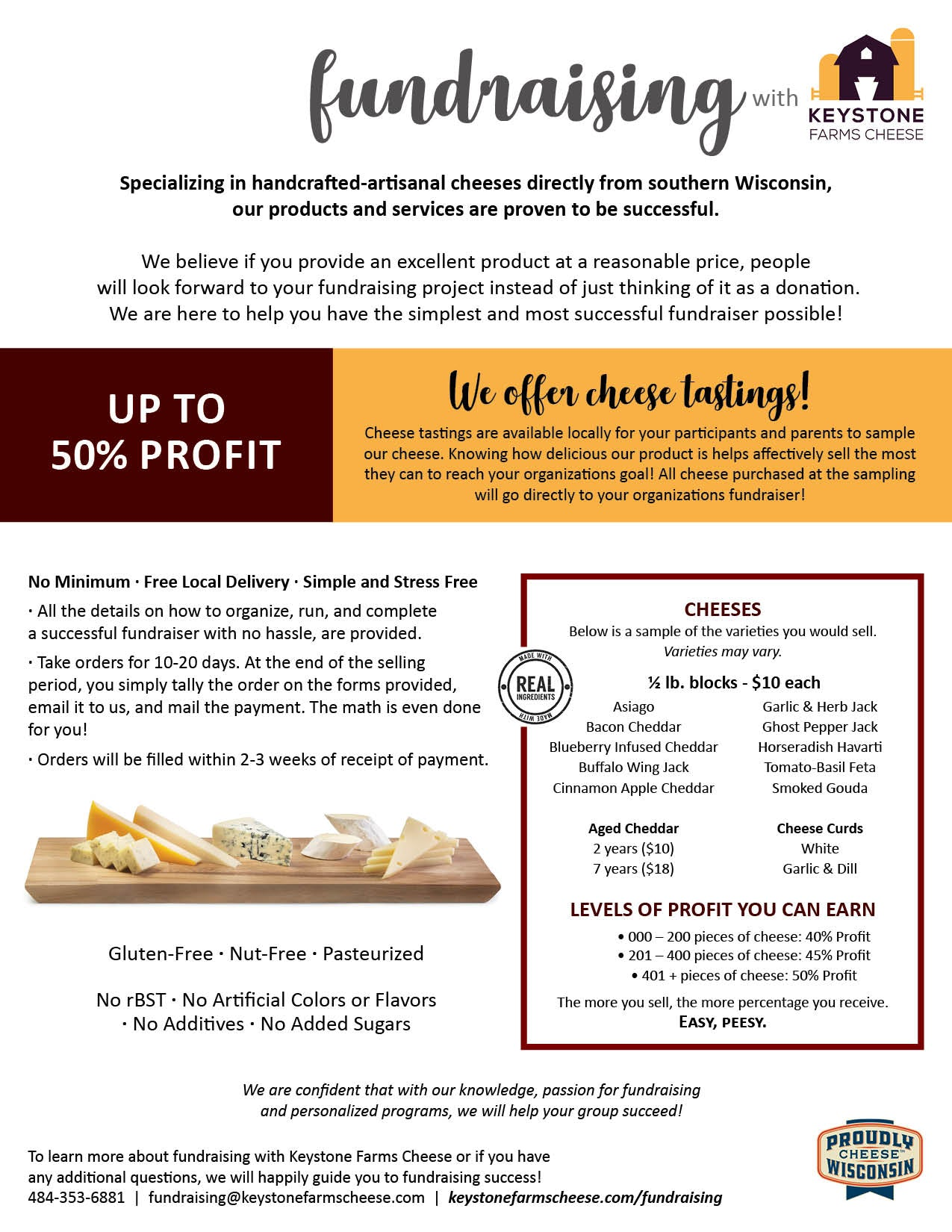 Cheese Fundraising