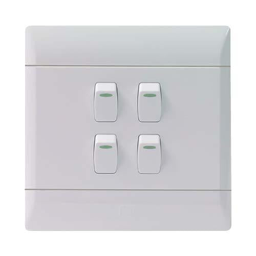 ELECTRICAL 4 LEVER WALL SWITCH