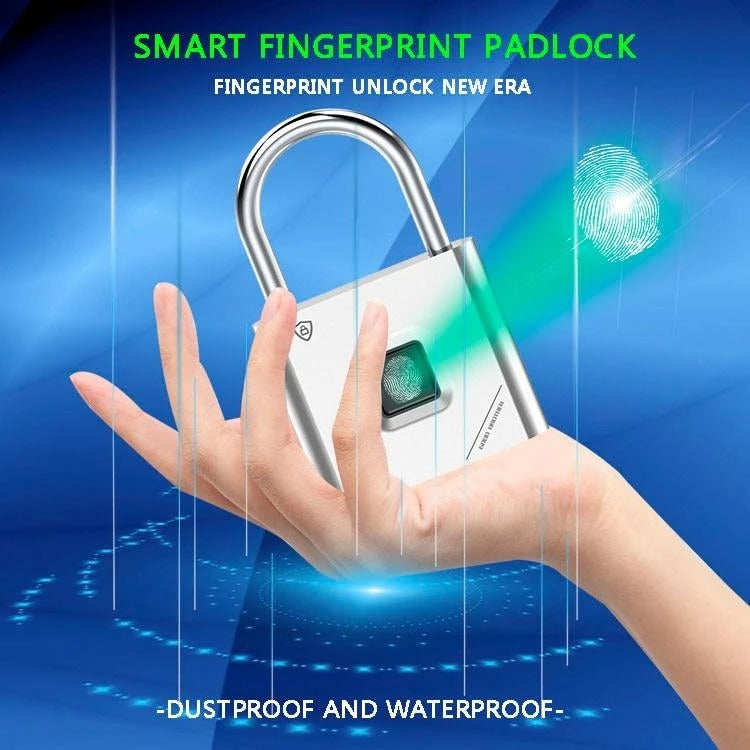 Built-in advanced fingerprint identification chip, Low power consumption and long standby time, When out of battery, the fingerprint lock padlock will remain locked, simply connect to a USB and charge. The longest standby time is up to 1 year, and the maximum number of unlocking times is up to 4500 times.