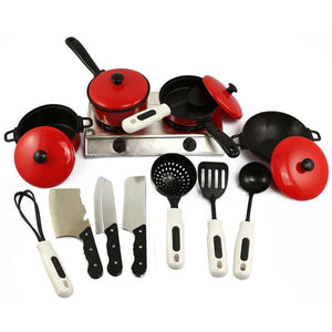 13PCS Toddler Play House Toy Kitchen Utensils - thesalelocker.com