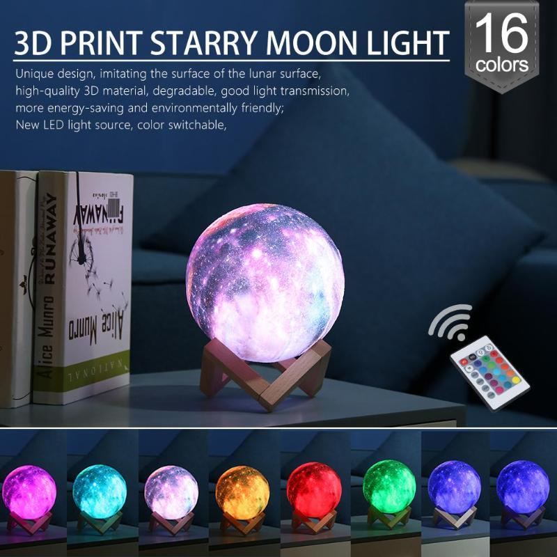 16 Color 3D Moon Lamp - thesalelocker.com