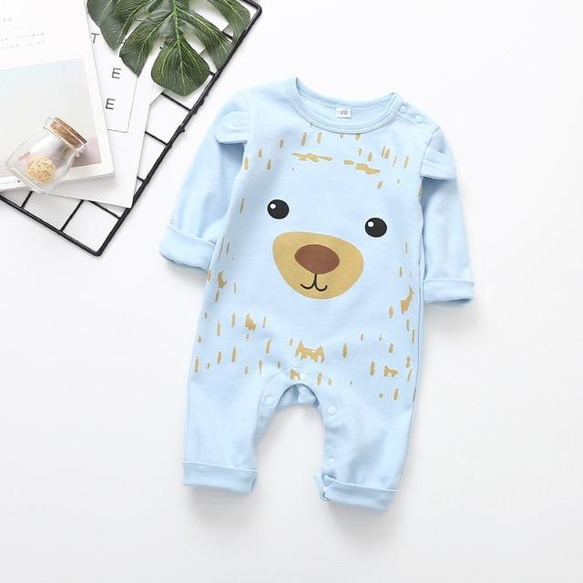 2020 Cute Animals Baby Bear Cub Romper-thesalelocker.com