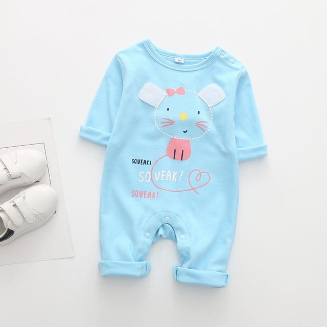 2020 Cute Animals Mouse Baby Romper-thesalelocker.com