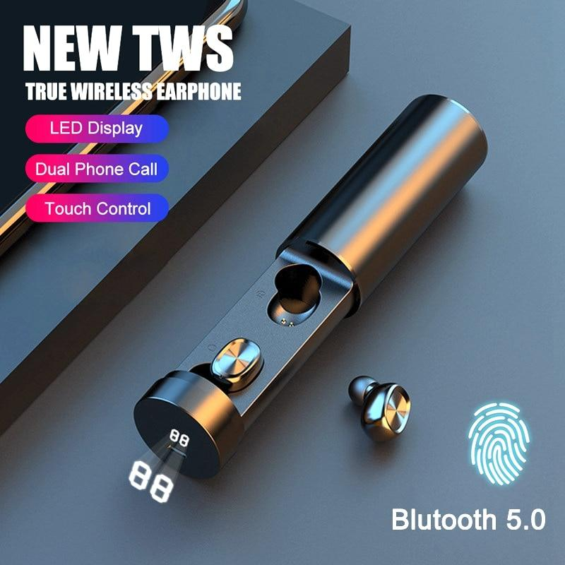 2020 NEW V5.0 Bluetooth Ear Buds Noise Cancelling-thesalelocker.com