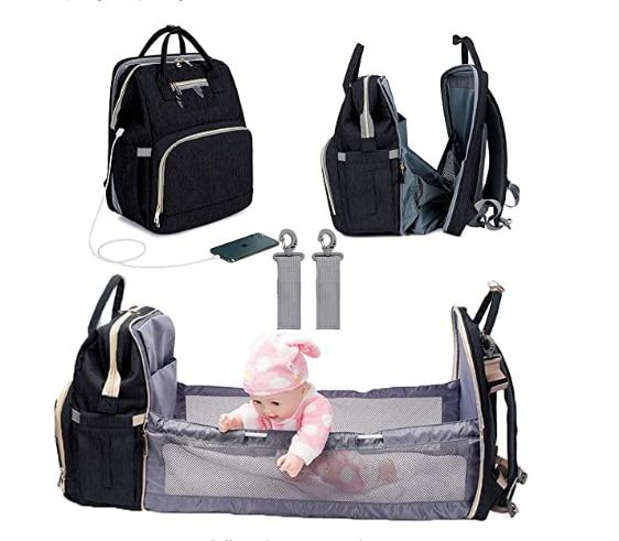 3 In 1 Diaper Bag Backpack With Changing Bed-thesalelocker.com