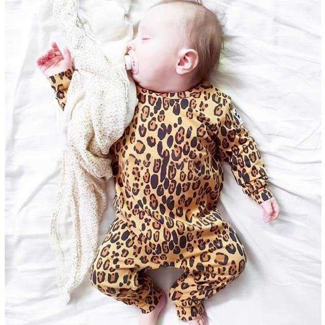 Baby Boy & Girl 100% Soft Cotton Long Sleeve leopard Romper-thesalelocker.com
