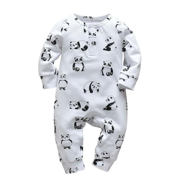 Baby Boy & Girl 100% Soft Cotton Long Sleeve Panda Romper-thesalelocker.com