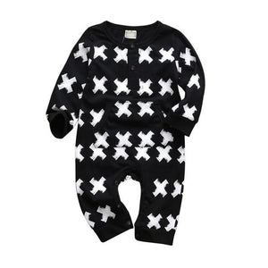 Baby Boy & Girl 100% Soft Cotton Long Sleeve Pattern Romper-thesalelocker.com