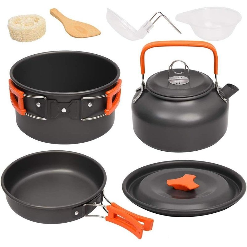 Camping Cookware Kit Outdoor Aluminum Cooking Set-thesalelocker.com