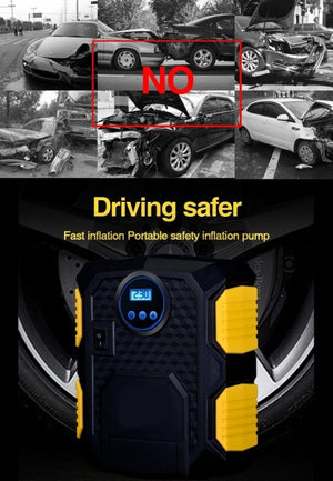 E-ACE Car Tire Inflatable Pump-thesalelocker.com
