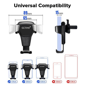 Gravity Air Vent Clip Mount Stand For iPhone 11 XS X XR 7 Xiaomi - thesalelocker.com