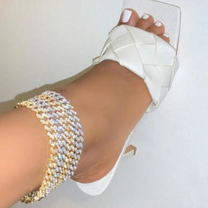 Hip Hop Jewelry Iced Out Cuban Anklet - thesalelocker.com