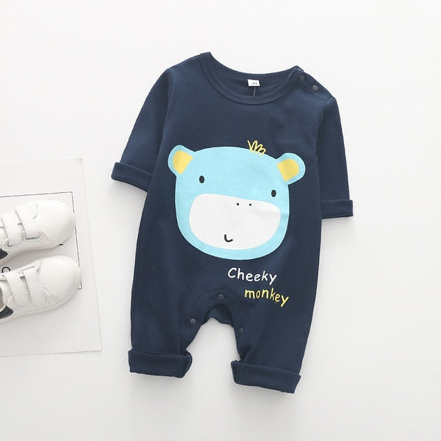 2020 Cute Animals Monkey Baby Romper-thesalelocker.com